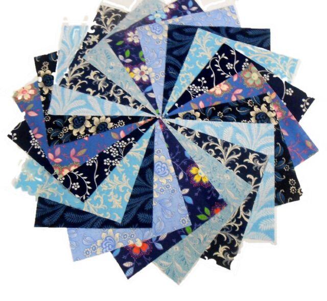 """40 5/"""" Cotton Quilting Fabric Squares Charm Pack Pre Cut Color Paisley /& Mauve"""