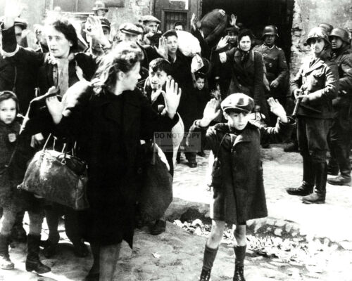 "AZ167 IMAGE FROM THE 1943 /""WARSAW GHETTO UPRISING/"" 8X10 HISTORIC PHOTO"