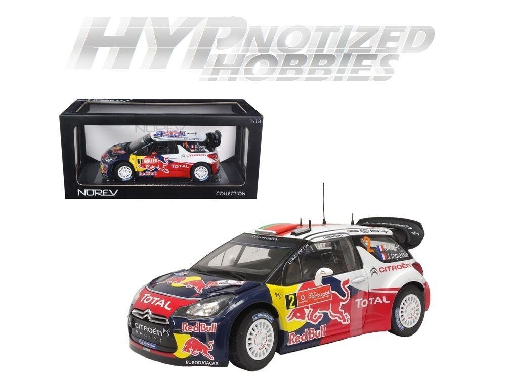 NOREV 1 18 CITROEN DS3 WRC WINNER rally PORTUGAL DIE -CAST röd 181556