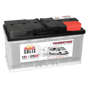 solis 120ah 12v solarbatterie boot wohnmobil versorgung. Black Bedroom Furniture Sets. Home Design Ideas