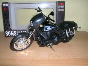 maisto harley davidson sons of anarchy 2003 dyna super glide sport jax 1 12 ebay. Black Bedroom Furniture Sets. Home Design Ideas