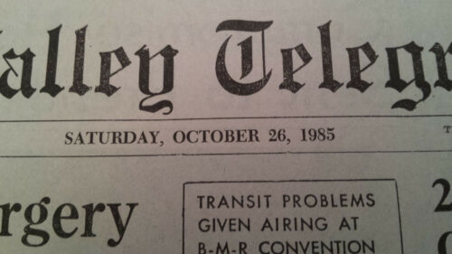 1985 Mr Strickland Newspaper Back to the Future Part 2 Prop Replica October 26