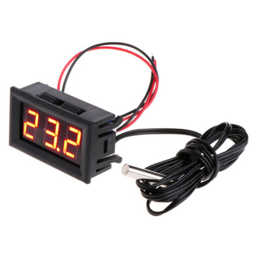 Digital LED Thermometer DC 5-12V 18mA Auto Temperatur Panel Meter Spur