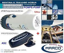MARCO UP1500 POMPA SENTINA IMMERSIONE 12V 95L/min +INTERRUTTORE AUTOMATICO BARCA