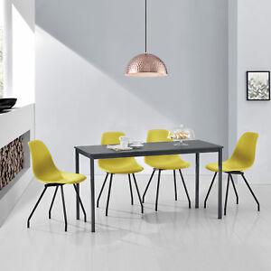 en-casa-MESA-de-Comedor-Con-4-sillas-gris-COLOR-MOSTAZA-140x60cm-cocina