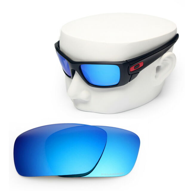 cb09622824f OOWLIT Replacement Sunglass Lenses for-Oakley Fuel Cell POLARIZED - Blue  Mirror