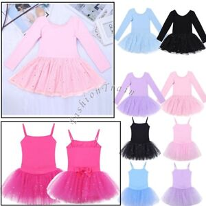 3ed05d0f1d9d 3-14Y Kids Girls Ballet Leotard Gymnastics Tank Sparkle Dance Tutu ...