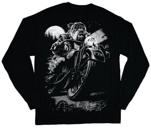 long sleeve t-shirt for men biker bulldog t-shirt english bully dog breed