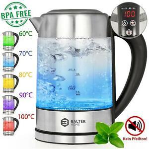 Balter-Wasserkocher-LCD-1-7-Liter-Edelstahl-Glas-LED-Warmhaltefunktion-2200W