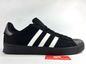e6c200af New adidas Originals SUPERSTAR VULC ADV Black Suede White Shoes ...
