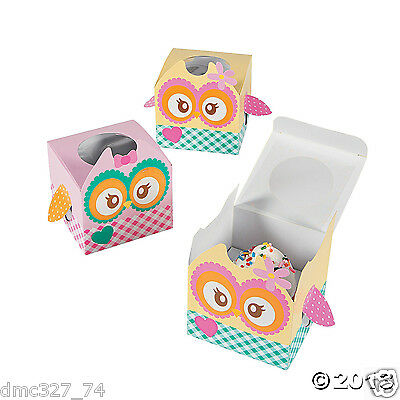 12 Birthday Everyday Party Favor OWL YOU'RE A HOOT Treat CUPCAKE BOXES