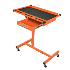 Heavy Duty Adjustable Work Table Bench,200 lbs Rolling Tool Cart Tray With Wheel