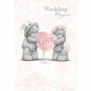 Me to you on your wedding day Mariée et Marié congrats carte-Tatty Teddy