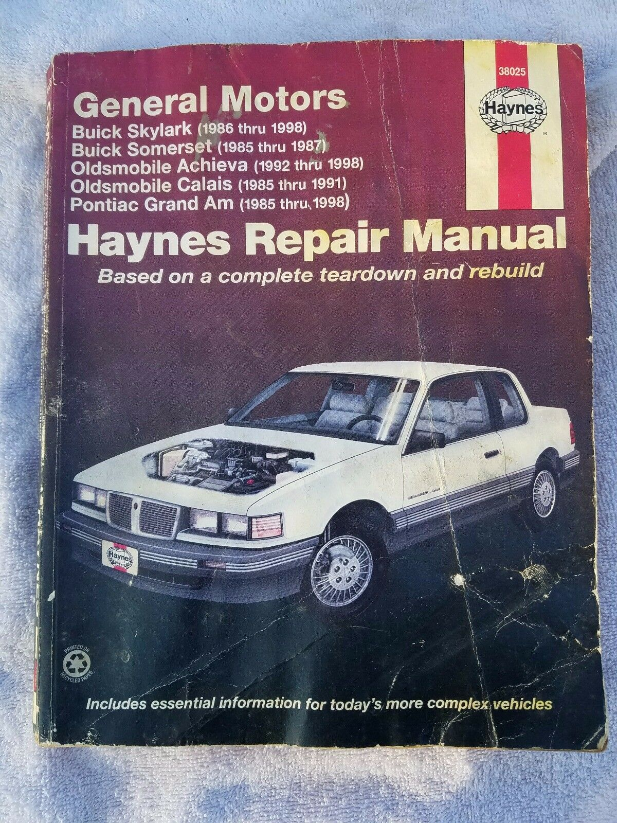 Haynes General Motors Repair Manual 38025 Skylark Calais Achieva Grand Am |  eBay