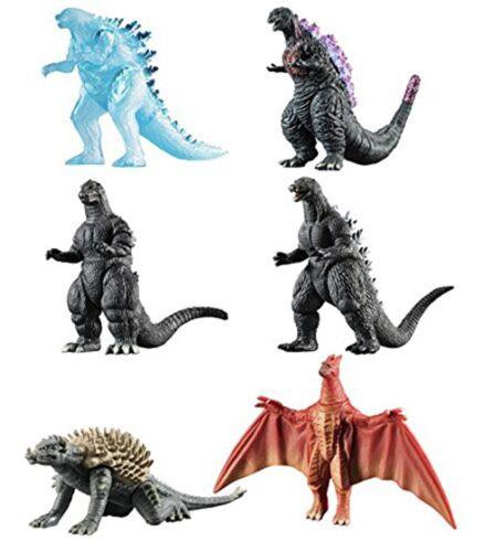 Bandai Japanese Godzilla Shingeki Taizen Part 2 Mini Figure Complete Set 6