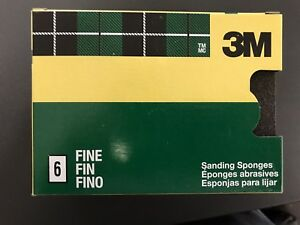 (12 Lot) 3m Sanding Sponge Fine Grit 6-pack (72 Pcs Total)blowout!! Free Ship!! DernièRe Technologie
