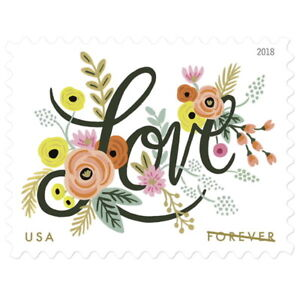 USPS-New-Love-Flourishes-Pane-of-20