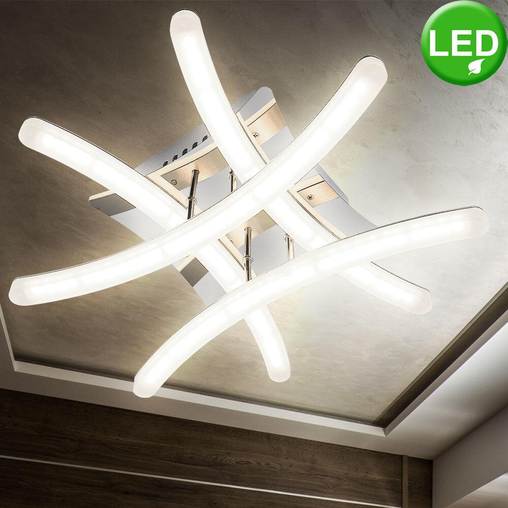 Éclairage plafonnier DEL 16 watts lampe luminaire plafond chrome acrylique LED