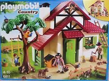 Playmobil 6811 Forsthaus offener Kamin Baum mit Kinderschaukel Fasan Zaun B-NEU