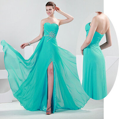 New Prom Formal Long Evening Gown Party Ball Bridesmaid Dress Size 2-16 in stock