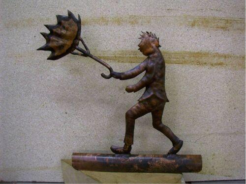 Dachrinnenfigur MANN  Dachfigur Kupfer Zink Dachschmuck Kupferfigur Dachrinne