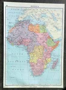 Map Of Africa Nigeria.Details About Map Of Africa Nigeria Congo Kenya Sudan Cape 1938 John Bartholomew Son