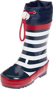 Playshoes-Bottes-en-caoutchouc-Maritime-bleu-blanc-raye-MANCHETTES-avec-cordon