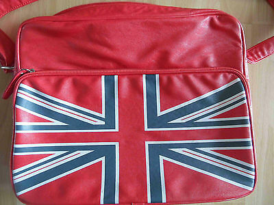 AQUARELLE Collection toll Umhängetasche rot Union Jack Schultasche TOP DN914