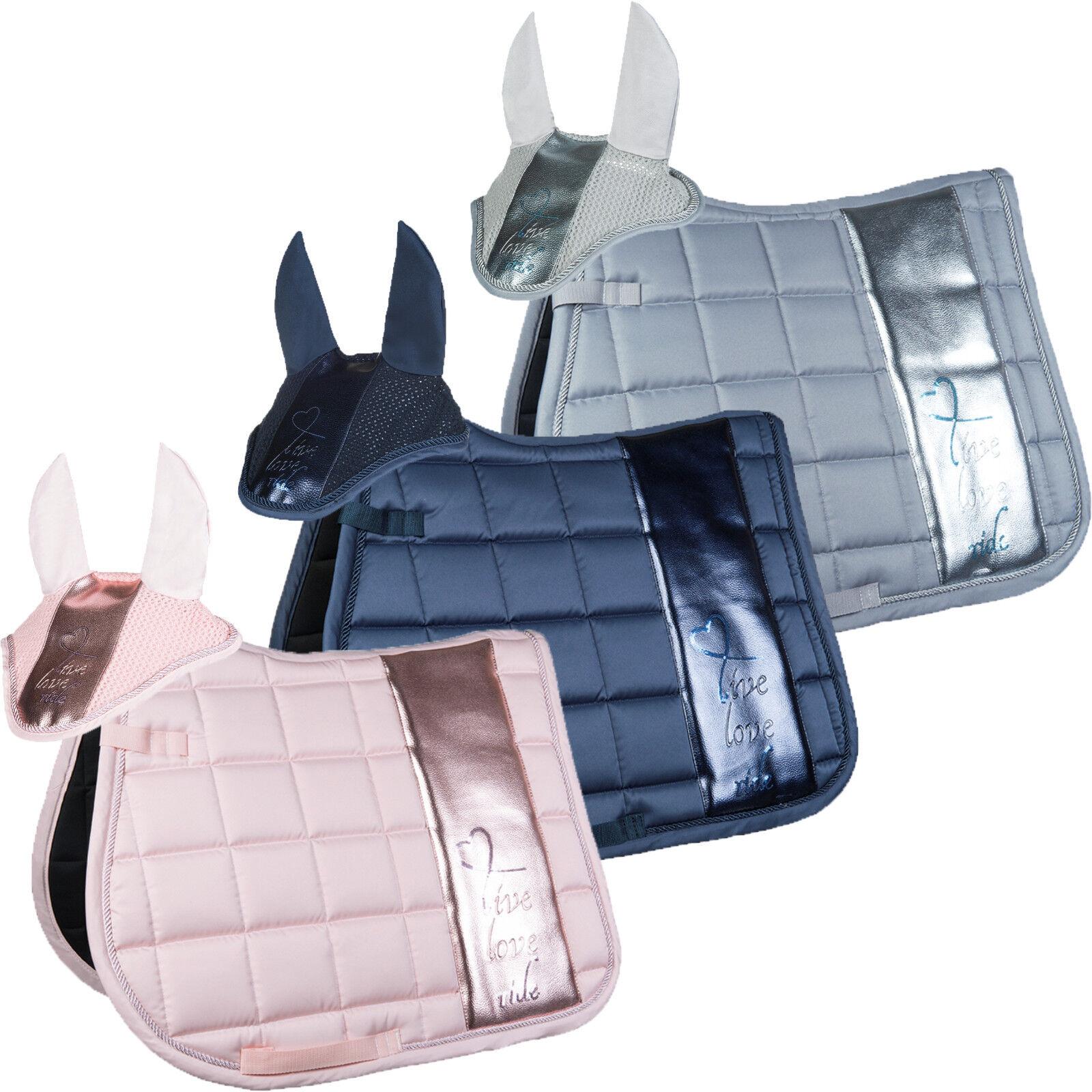 HKM Mettuttiic Style Set Saddlecloth & Fly Hood 10882, 10883