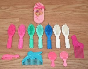 *Lot of 13* Barbie Doll Multi Color, Size & Shape Hair Brushes & Combs **READ**