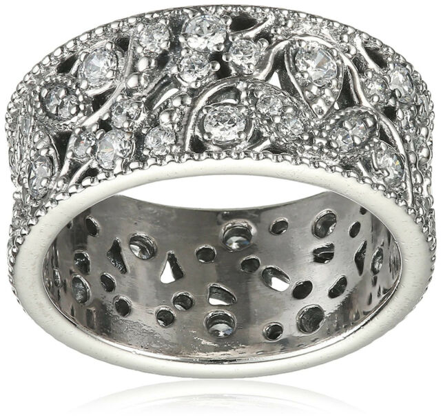 cb9d6f263 Pandora Ring 190965CZ Shimmering Leaves Size (7.5) 56 Tag & Box Include