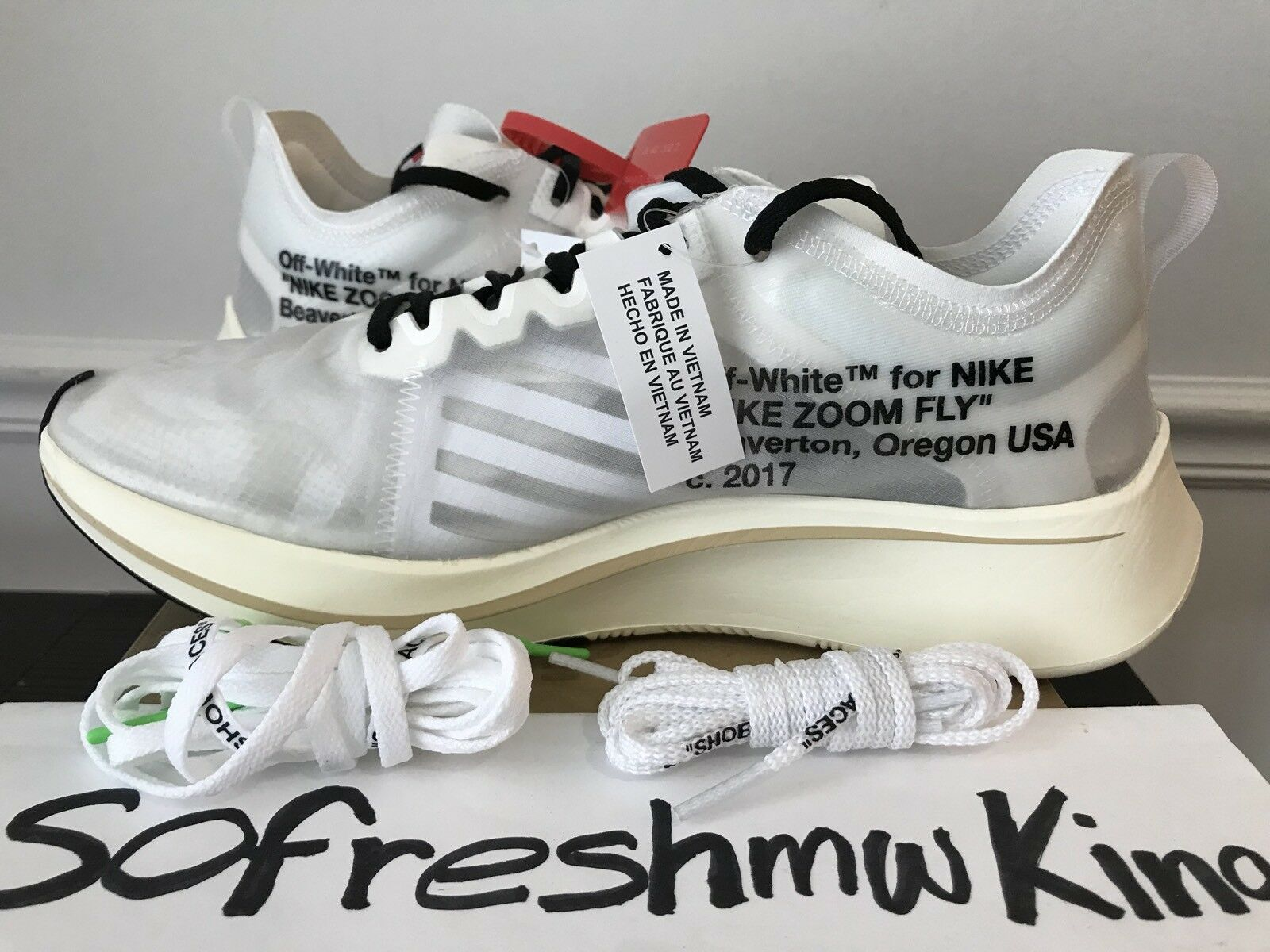 huge discount 58acd 44ffd Unc Nike Off White Zoom Fly Sz 10.5 10.5 10.5 Brand New AJ4588-100 !