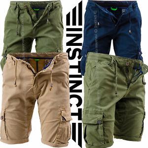 Bermuda-Uomo-Tasche-Laterali-Cargo-Shorts-Pantaloni-Corti-Pantaloncini-INSTINCT