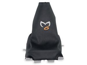Discret Pour Mazda 6 Gg 02-07 Soufflet Levier De Vitesse En Cuir Broderie Coutures Beige Prix Raisonnable