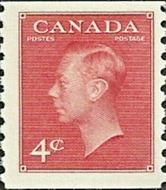 Canada  # 300  King George VI  Postes - Postage   New Coil 1950 Pristine Gum