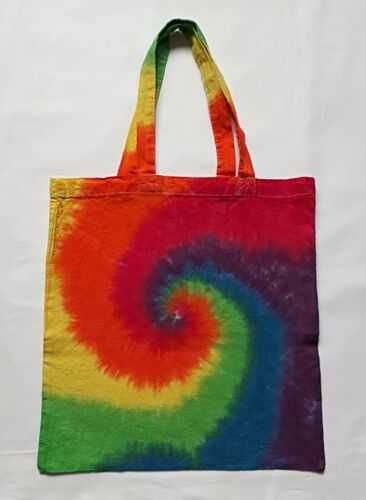 Tie Dye Cotton Tote Bag For Life Shopping Book Gym Swim Present Gift RAINBOW
