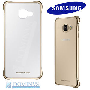 Clear-Cover-Originale-Samsung-Galaxy-A5-2016-Custodia-Trasparente-Slim-Oro-Gold
