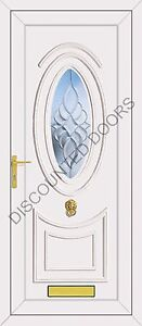 Jefferson One Dream Bevel Glazed UPVC Front Door, Frame & Letterbox