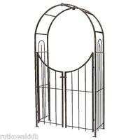 Panacea Arched Top Bronze Garden Arbor With Gate