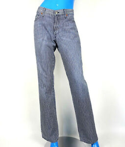 7-For-All-Mankind-Seven-Stripe-Bootcut-Jeans-Womens-31-M-10-12-USA-Pinstripes