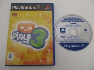EYE-TOY-PLAY-3-SONY-PLAYSTATION-2-Jeu-PS2-PAL-Fr-Version-PROMO