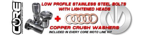 SUZUKI DR-Z400SM SUPERMOTO 2005-2016 CORE MOTO MX REAR BRAKE LINE KIT