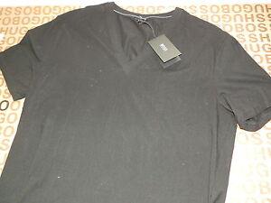 buy online 12941 736b2 Dettagli su NUOVO Hugo Boss Da Uomo Designer Nero V-Neck CK camicia  elegante Tuta Jeans T-shirt XXL- mostra il titolo originale