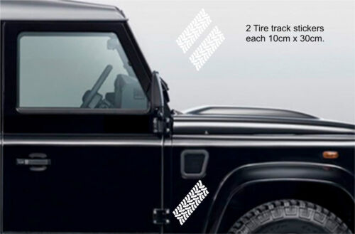 Off Road,30cm x 10cm x 2 Decal Land Rover 4x4 Tyre Track Stickers