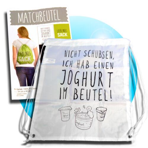 TURNBEUTEL Sportbeutel Schuhbeutel Beutel Sporttasche Tasche Joghurt im Beutel