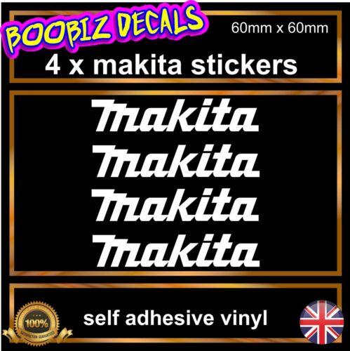 4x makita tools sponsor sticker 60mm x 60mm  toolbox car van hand tool decals