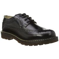 Grinders Bertrum Brogue Black Mens Shoes