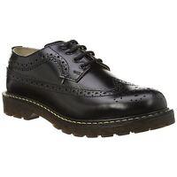 Grinders Bertrum Brogue Black Mens Shoes