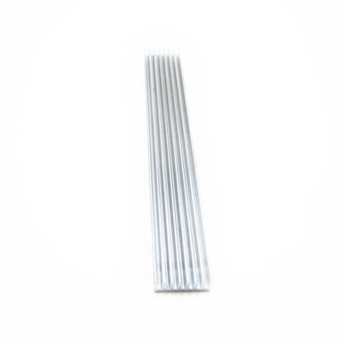 Silver-White Heat Sink LED 150x20x6mm Heat Sink Aluminum Cooling Fin