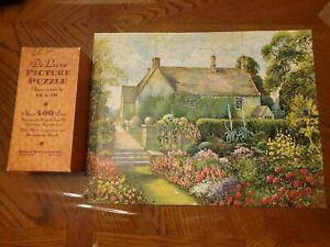 Vintage-Deluxe-Regent-Jigsaw-Puzzle-Sulgrave-Manor-Washington-Painting-UK-NY-USA